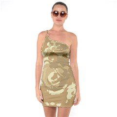 Abstract Art One Soulder Bodycon Dress