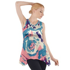 Abstract art Side Drop Tank Tunic