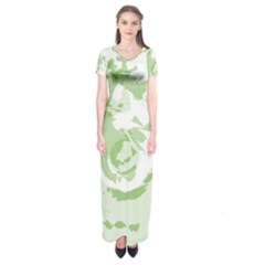 Abstract art Short Sleeve Maxi Dress