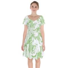 Abstract Art Short Sleeve Bardot Dress
