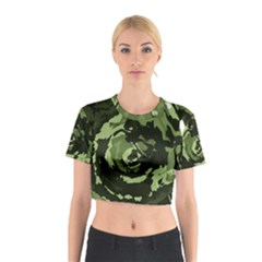 Abstract art Cotton Crop Top