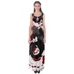Abstract art Empire Waist Maxi Dress