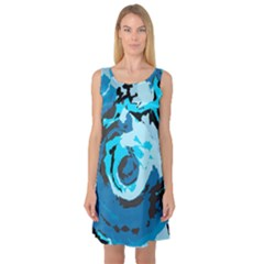 Abstract art Sleeveless Satin Nightdress