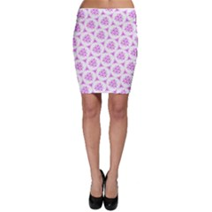 Sweet Doodle Pattern Pink Bodycon Skirt