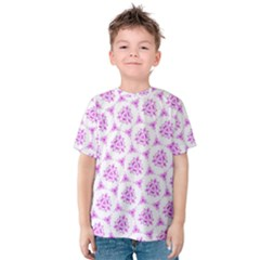 Sweet Doodle Pattern Pink Kids  Cotton Tee