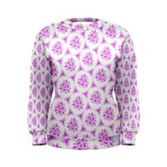 Sweet Doodle Pattern Pink Women s Sweatshirt