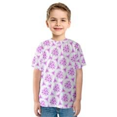 Sweet Doodle Pattern Pink Kids  Sport Mesh Tee