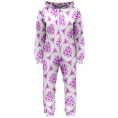 Sweet Doodle Pattern Pink Hooded Jumpsuit (ladies)