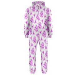 Sweet Doodle Pattern Pink Hooded Jumpsuit (men)
