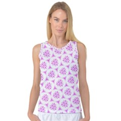 Sweet Doodle Pattern Pink Women s Basketball Tank Top