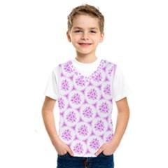 Sweet Doodle Pattern Pink Kids  Sportswear