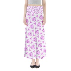 Sweet Doodle Pattern Pink Maxi Skirts