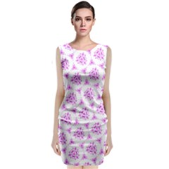 Sweet Doodle Pattern Pink Classic Sleeveless Midi Dress