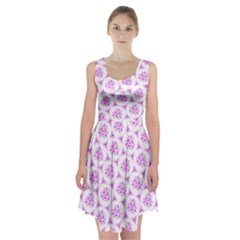 Sweet Doodle Pattern Pink Racerback Midi Dress