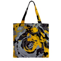Abstract art Zipper Grocery Tote Bag