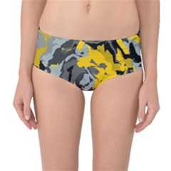 Abstract art Mid-Waist Bikini Bottoms