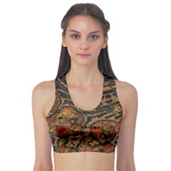 Unique Abstract Mix 1a Sports Bra