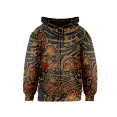 Unique Abstract Mix 1a Kids  Zipper Hoodie