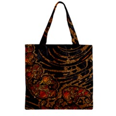 Unique Abstract Mix 1a Zipper Grocery Tote Bag