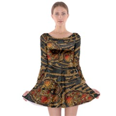 Unique Abstract Mix 1a Long Sleeve Skater Dress