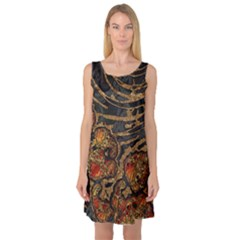 Unique Abstract Mix 1a Sleeveless Satin Nightdress