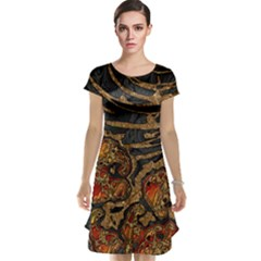 Unique Abstract Mix 1a Cap Sleeve Nightdress