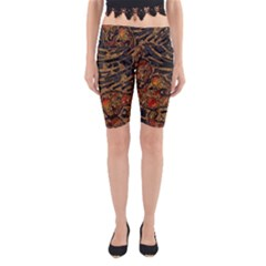 Unique Abstract Mix 1a Yoga Cropped Leggings
