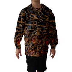 Unique Abstract Mix 1a Hooded Wind Breaker (Kids)