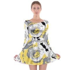 Abstract art Long Sleeve Skater Dress