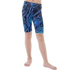 Unique Abstract Mix 1b Kids  Mid Length Swim Shorts