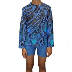 Unique Abstract Mix 1b Kids  Long Sleeve Swimwear