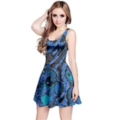 Unique Abstract Mix 1b Reversible Sleeveless Dress