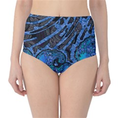 Unique Abstract Mix 1b High-Waist Bikini Bottoms