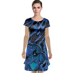 Unique Abstract Mix 1b Cap Sleeve Nightdress