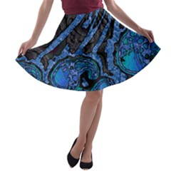 Unique Abstract Mix 1b A-line Skater Skirt