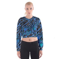Unique Abstract Mix 1b Cropped Sweatshirt