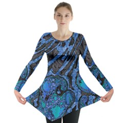 Unique Abstract Mix 1b Long Sleeve Tunic