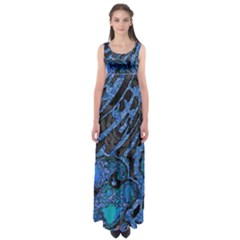 Unique Abstract Mix 1b Empire Waist Maxi Dress