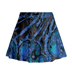 Unique Abstract Mix 1b Mini Flare Skirt