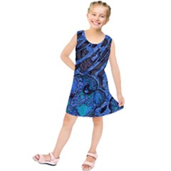 Unique Abstract Mix 1b Kids  Tunic Dress