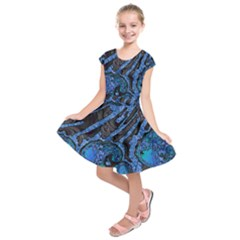 Unique Abstract Mix 1b Kids  Short Sleeve Dress