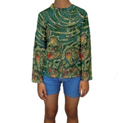 Unique Abstract Mix 1c Kids  Long Sleeve Swimwear