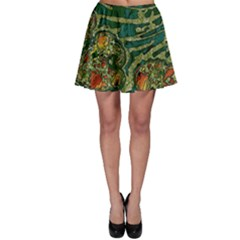 Unique Abstract Mix 1c Skater Skirt