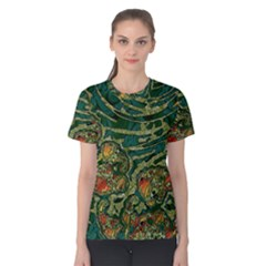 Unique Abstract Mix 1c Women s Cotton Tee