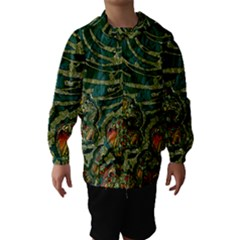 Unique Abstract Mix 1c Hooded Wind Breaker (Kids)