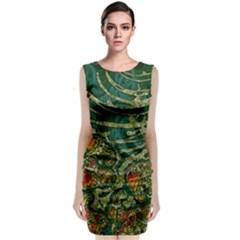 Unique Abstract Mix 1c Sleeveless Velvet Midi Dress