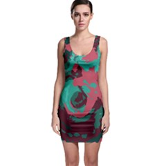 Abstract Art Sleeveless Bodycon Dress