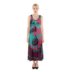Abstract art Sleeveless Maxi Dress