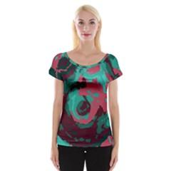 Abstract art Women s Cap Sleeve Top