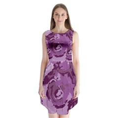 Abstract art Sleeveless Chiffon Dress
